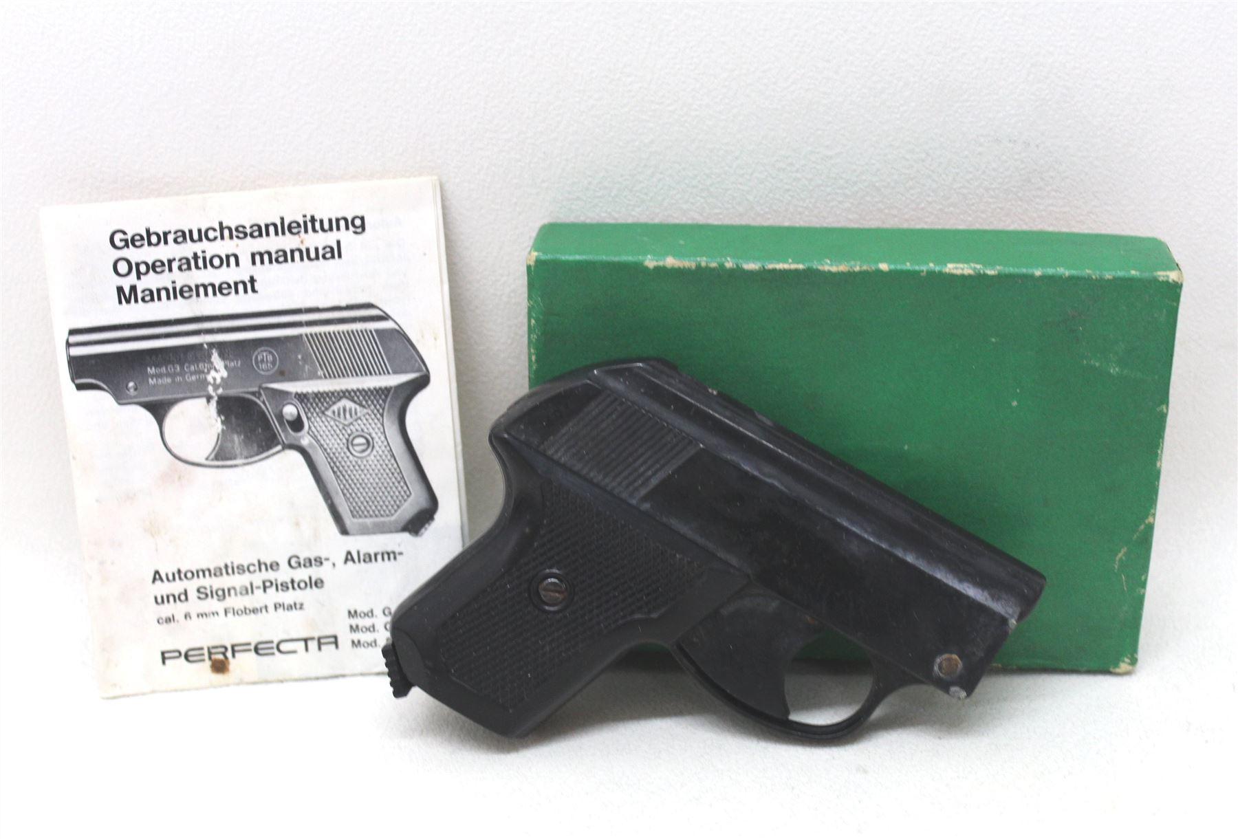 PERFECTA Vintage German Black Starting Alarm & Signalling Pistol Model 6mm  | eBay