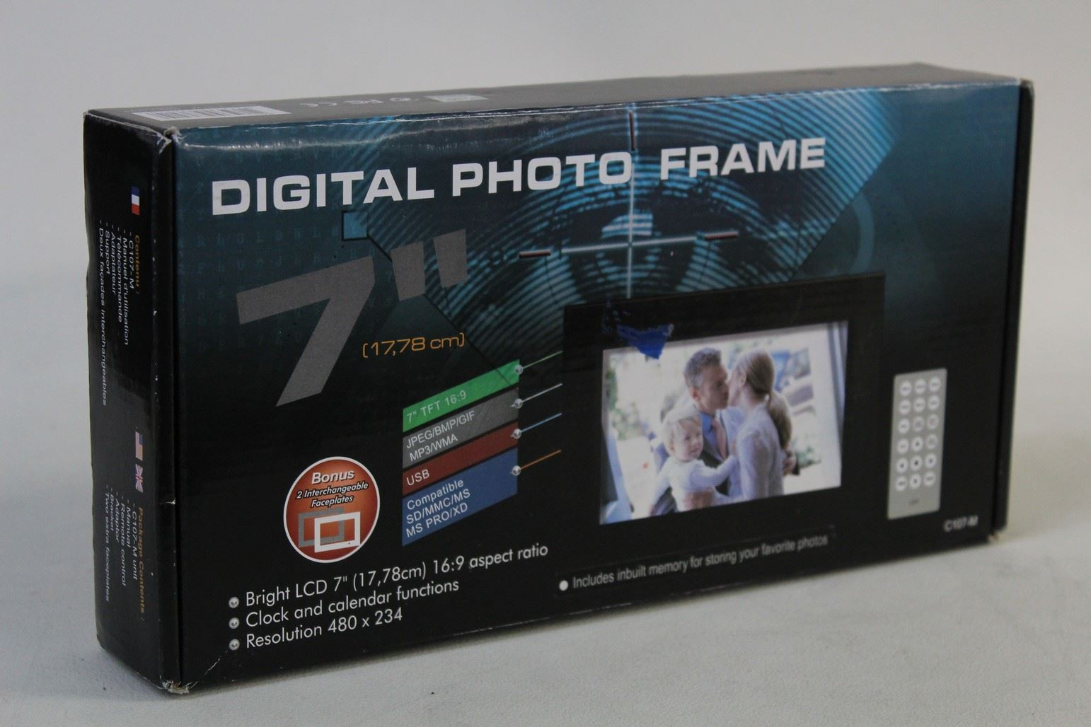 Nuevo Y En Caja Cibox C107-M Digital 16MP Marco de fotos LCD 7\