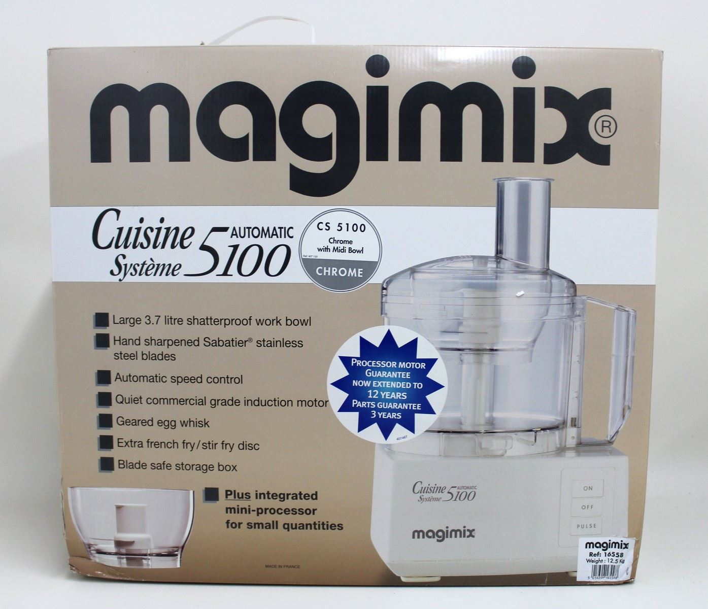 Bnib magimix cs5100 chrome cuisine system food processor for Cuisine 5100 magimix