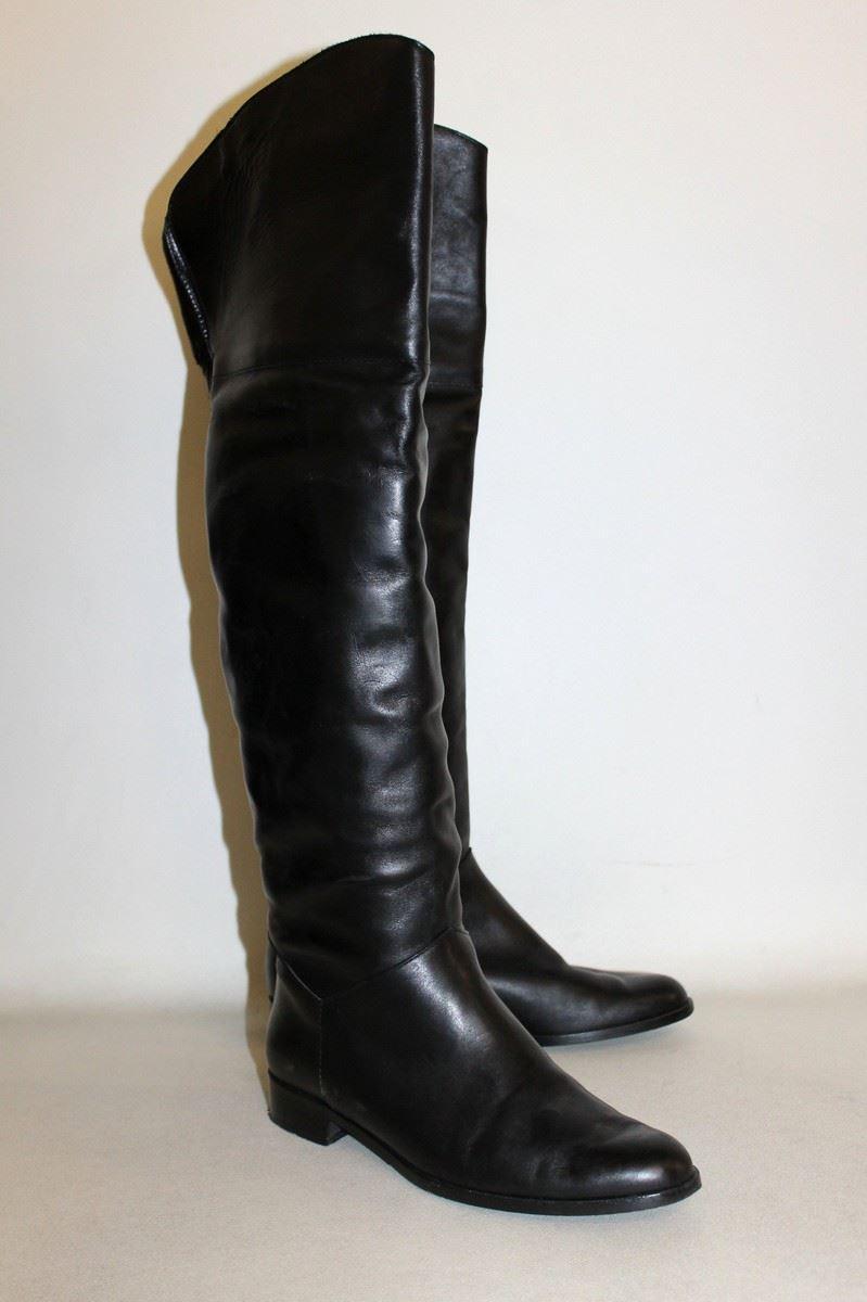 blue velvet black leather slip on low heel