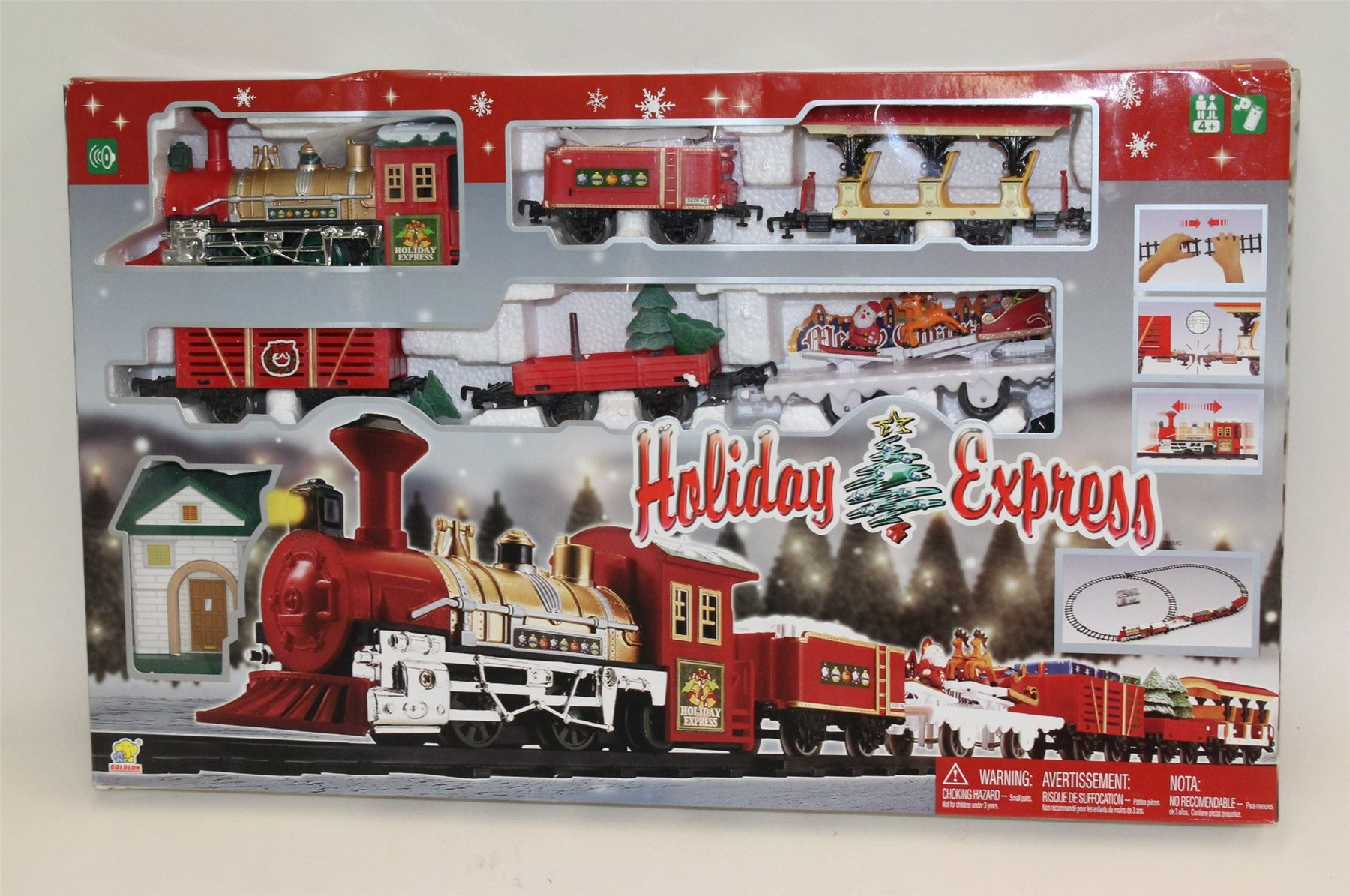 new bright holiday express train set instructions