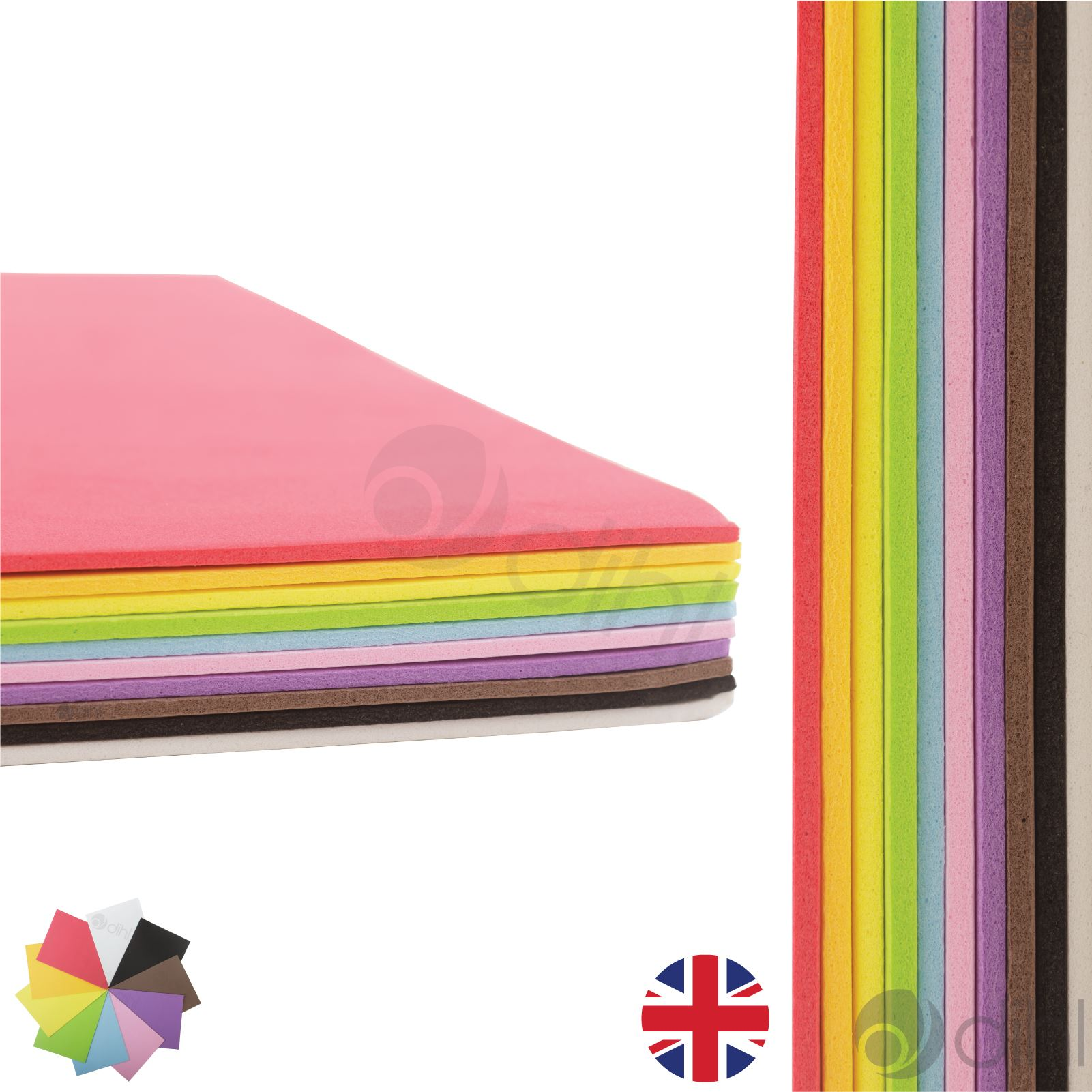 A4 eva foam craft sheets project thick assorted colour for Red craft foam sheets