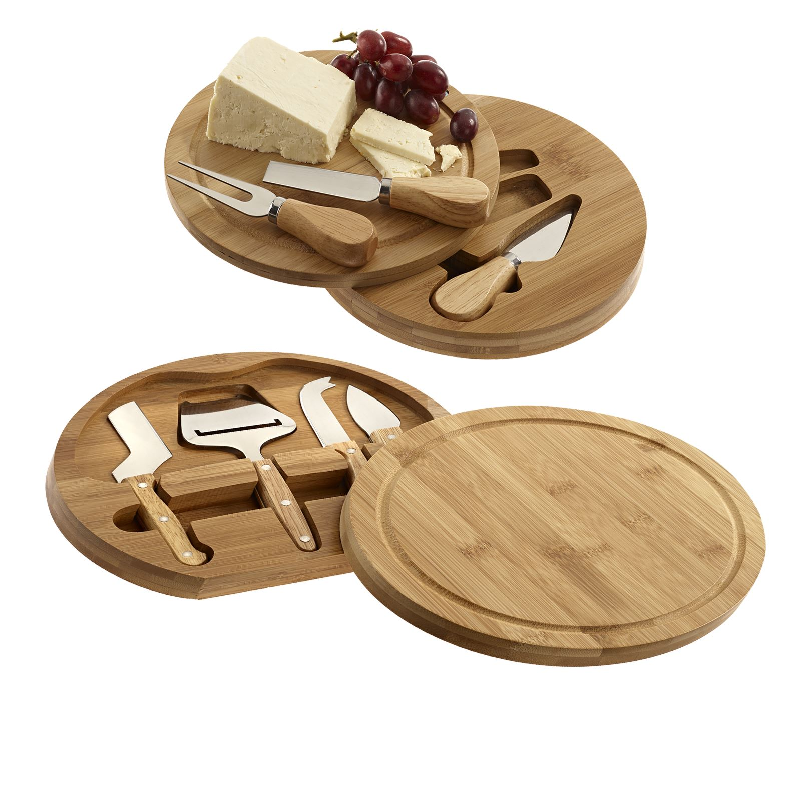 Bamboo Cheeseboards with Concealed Knife & Tool Set Chopping Board
