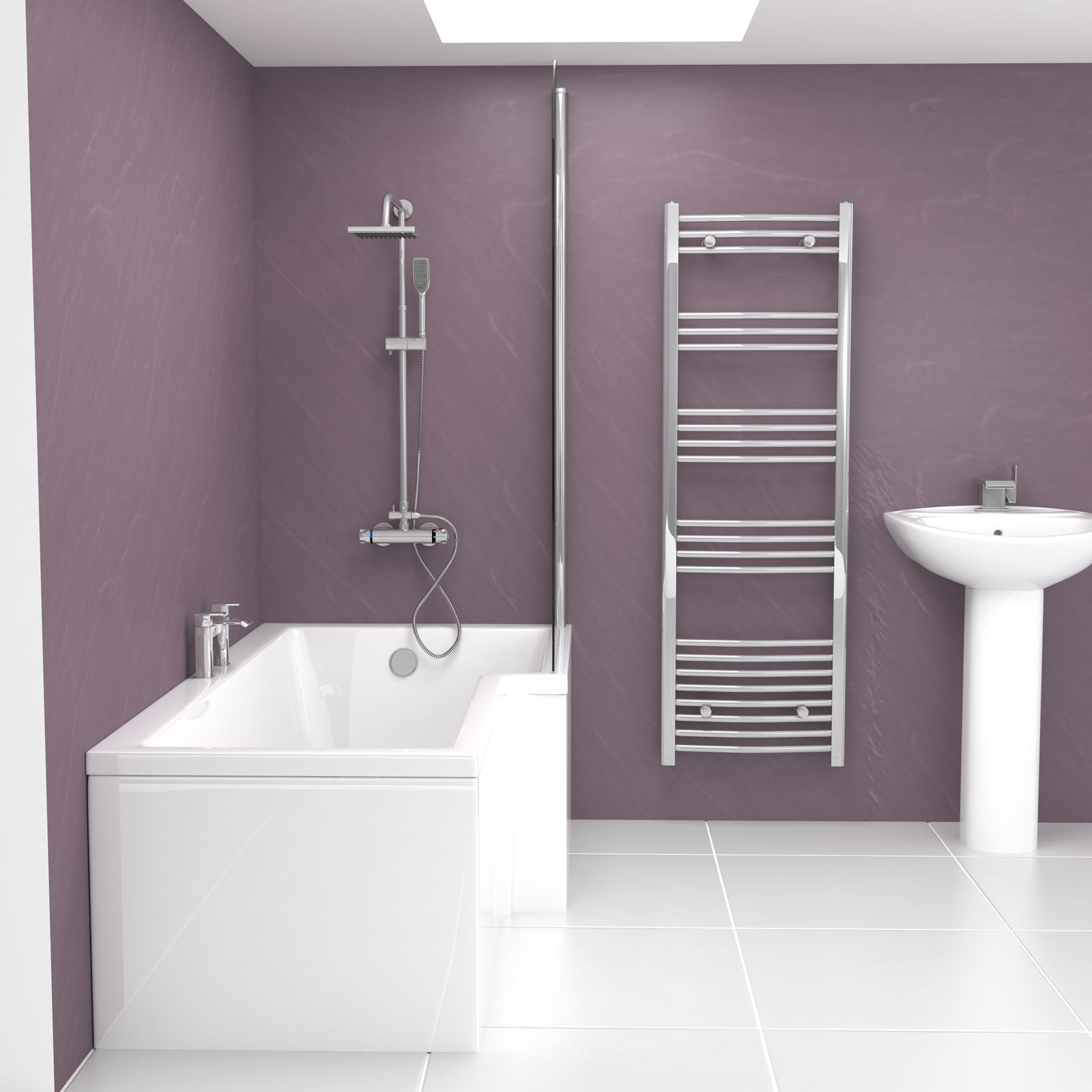 Modern Bathroom 1700 Left Or Right Hand L Shaped Shower