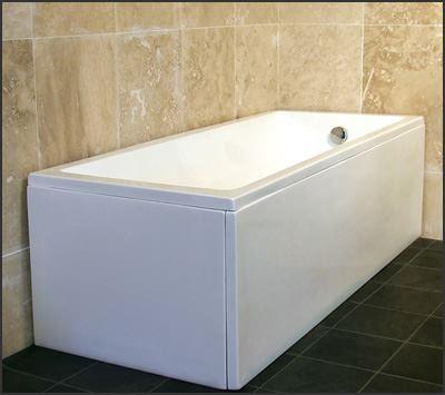 Dihl 1500mm 1600mm Modern Gloss White Acrylic Bath Bathtub