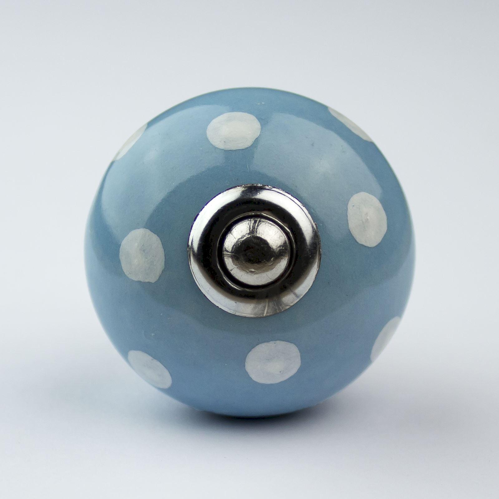 Blue white navy ceramic door knobs handles furniture for Door knobs ebay