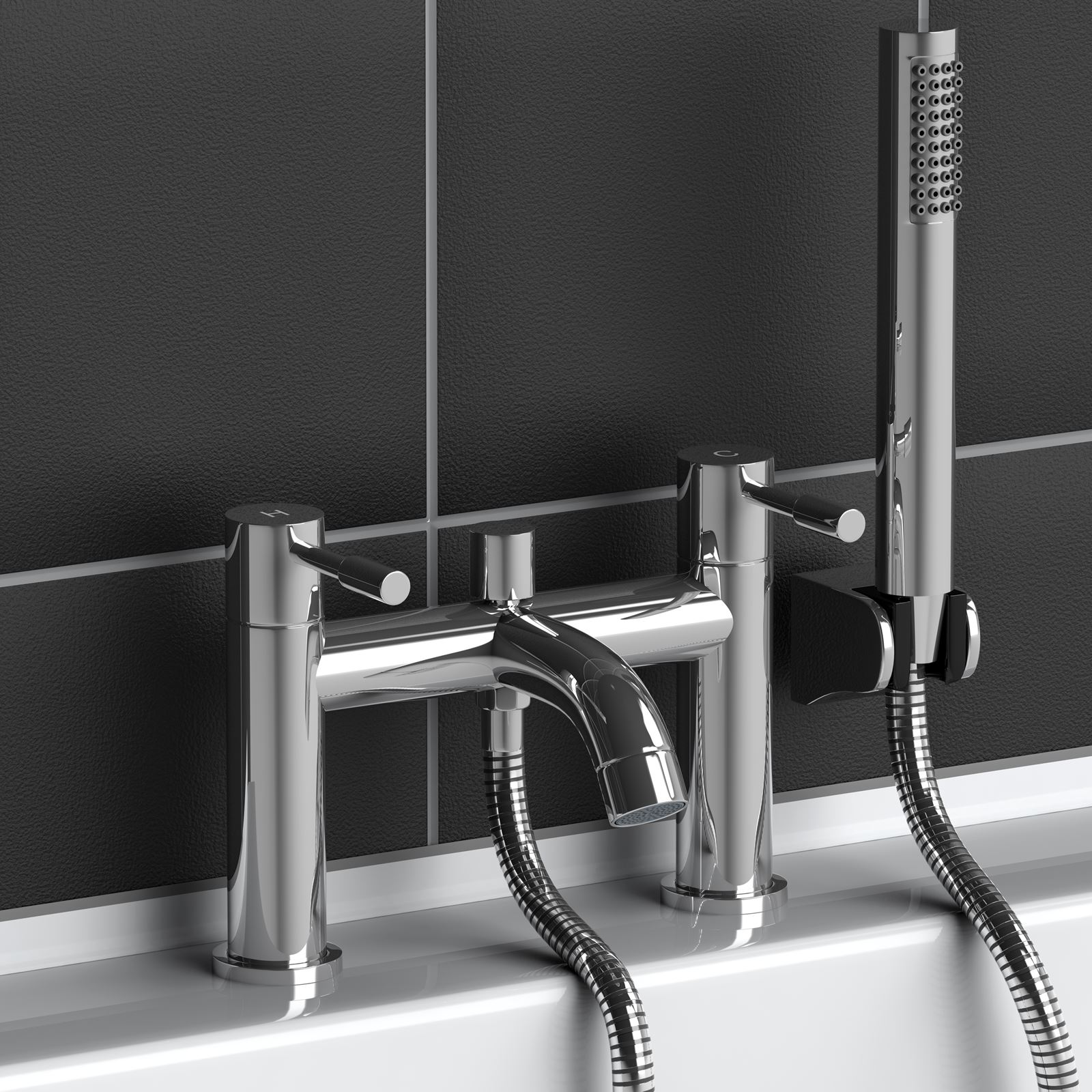 Bath Filler Tap Taps Modern Chrome Plated Brass With