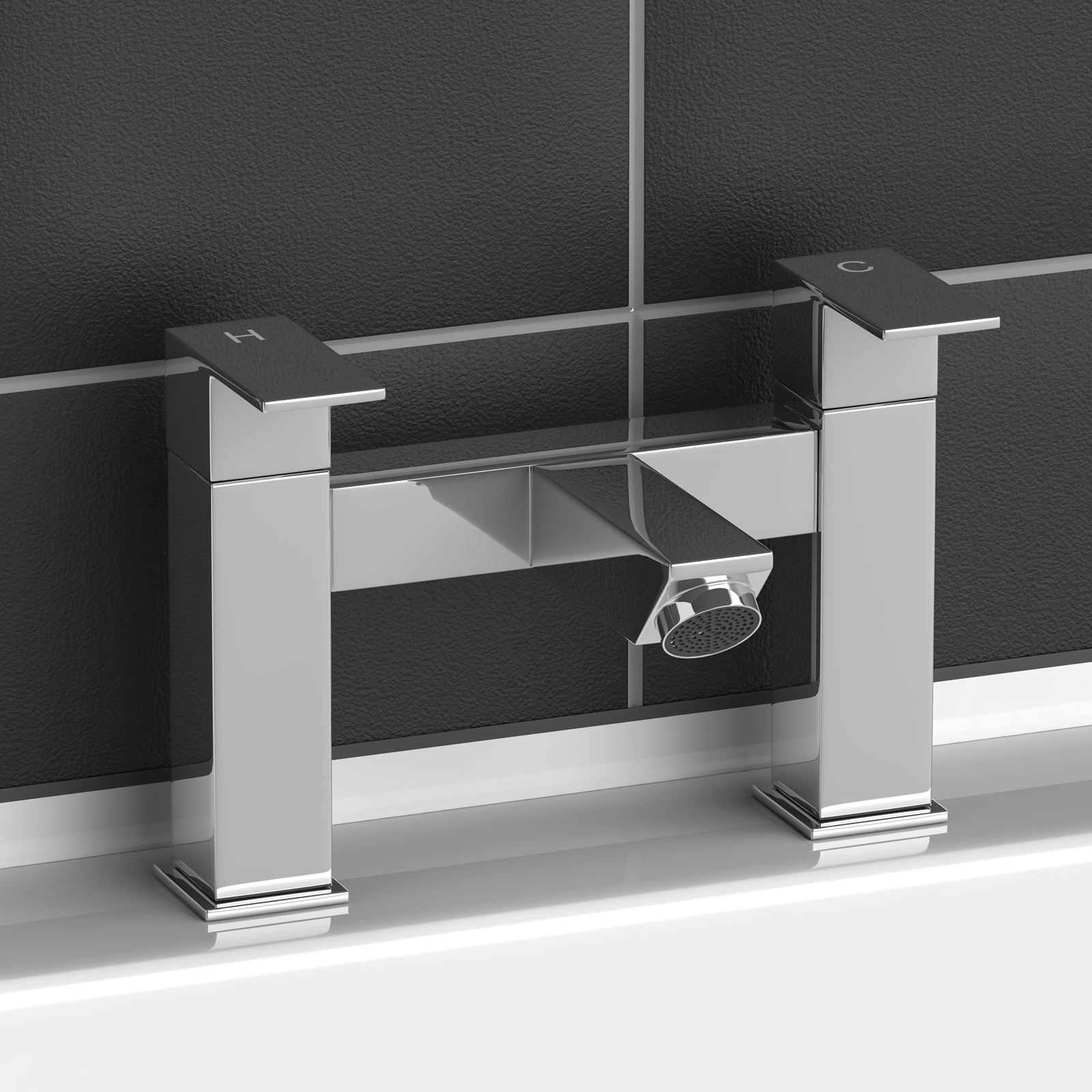 Modern Chrome Plated Brass Monobloc Sink Bathroom Filler