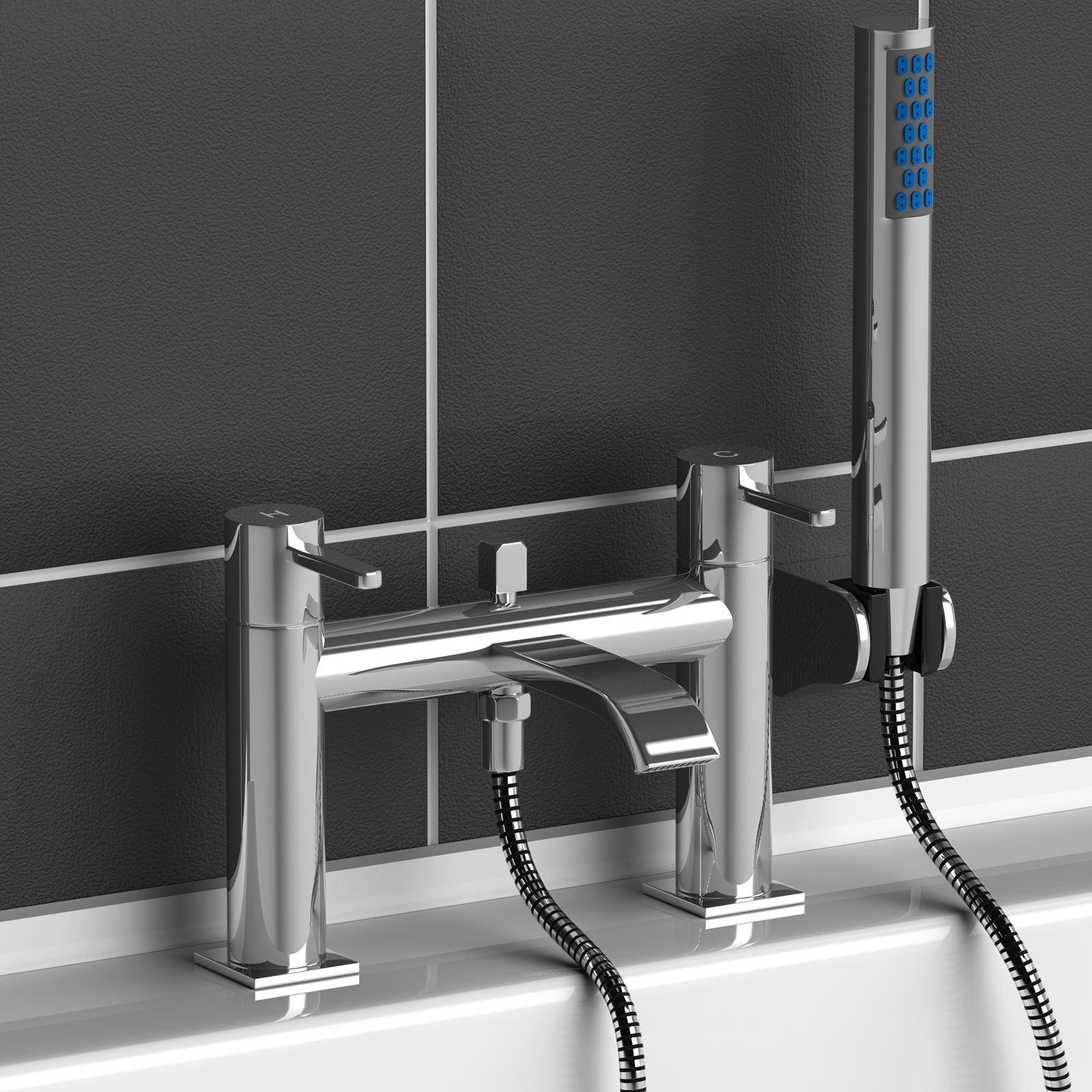Modern Chrome Brass Monobloc Sink Bathroom Filler Bath