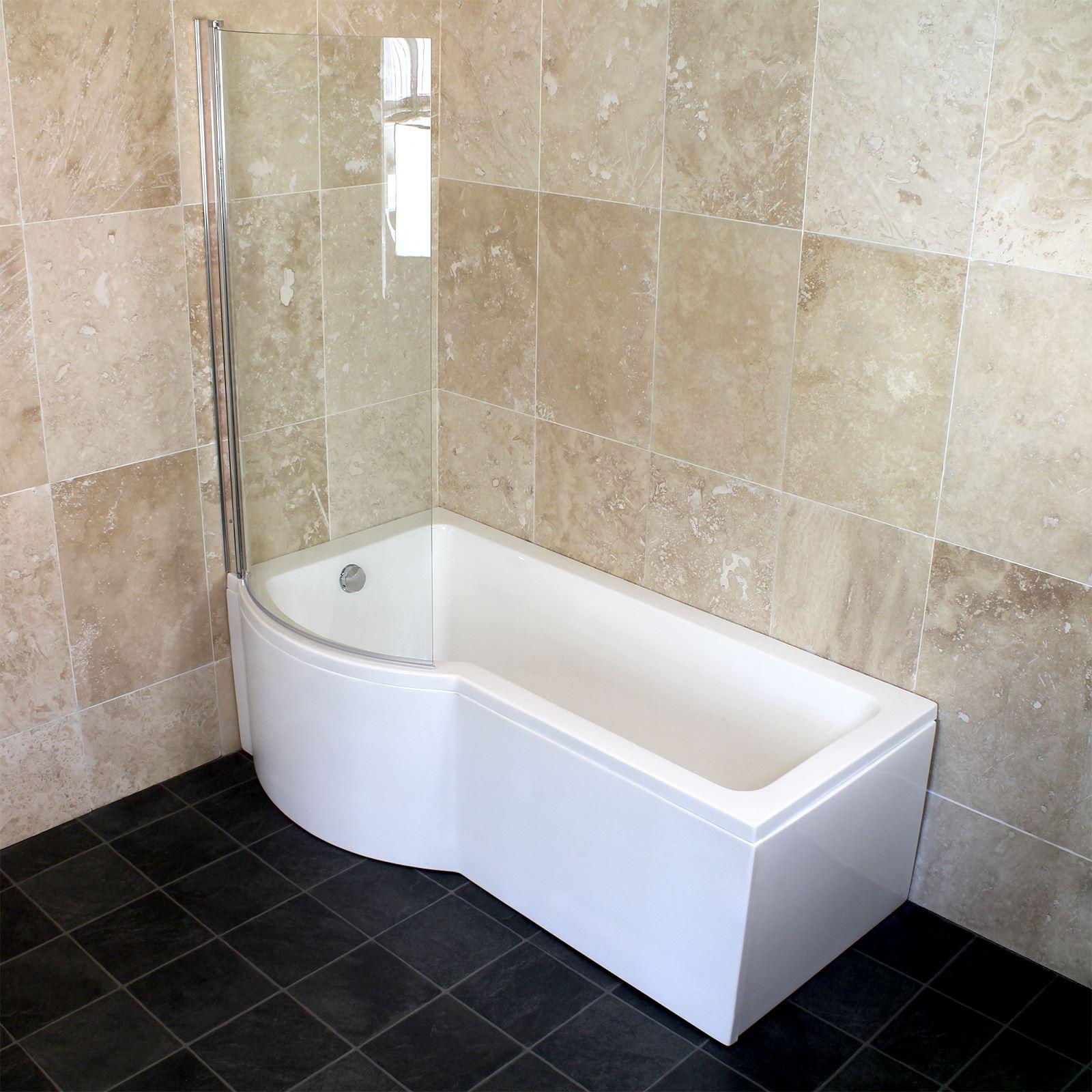 Bathroom 1500 1600 1700 Left Right Hand P Shaped Shower
