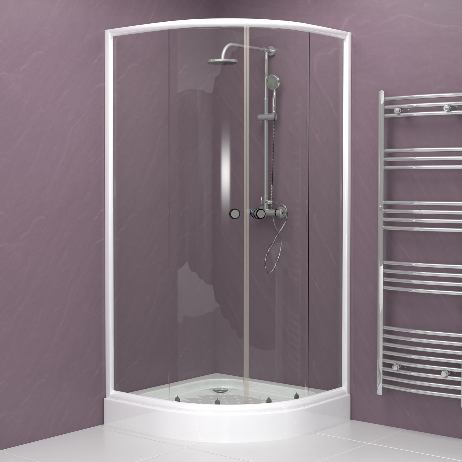800 900 Modern Quadrant Shower Enclosure Corner Cubicle