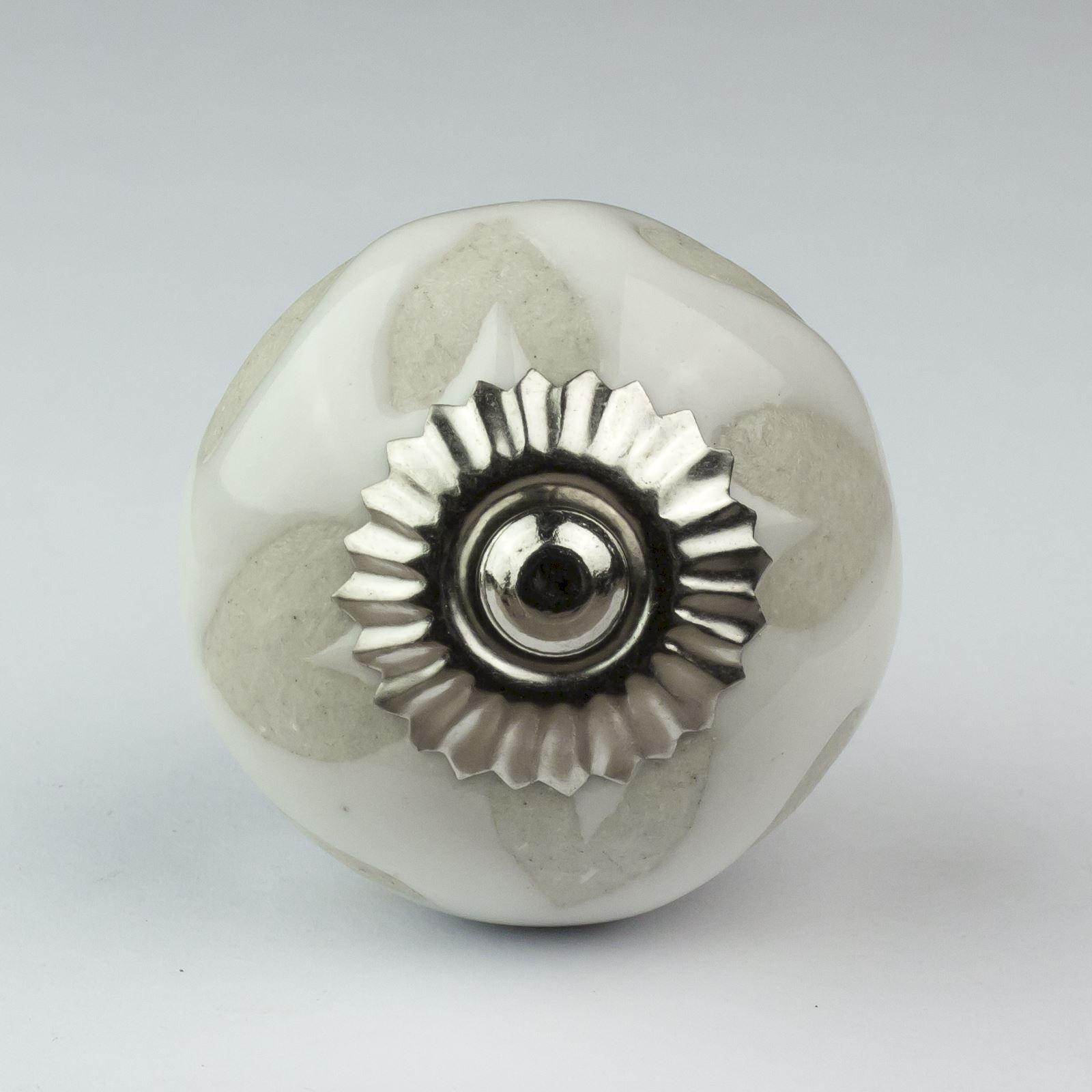 Black white silver grey ceramic door knobs handles for Door knobs ebay