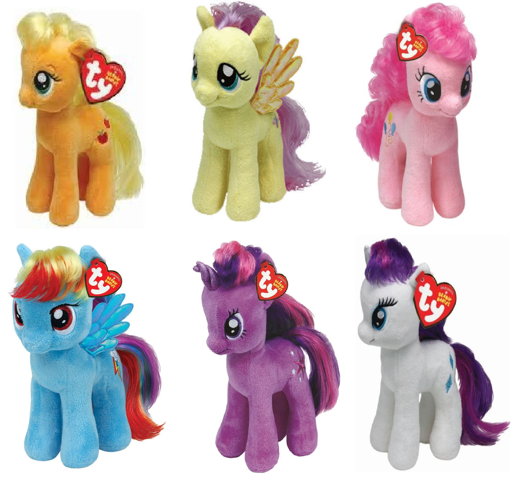"My Little Pony TY Beanie Babies Soft Plush Selection 5"" to 10"