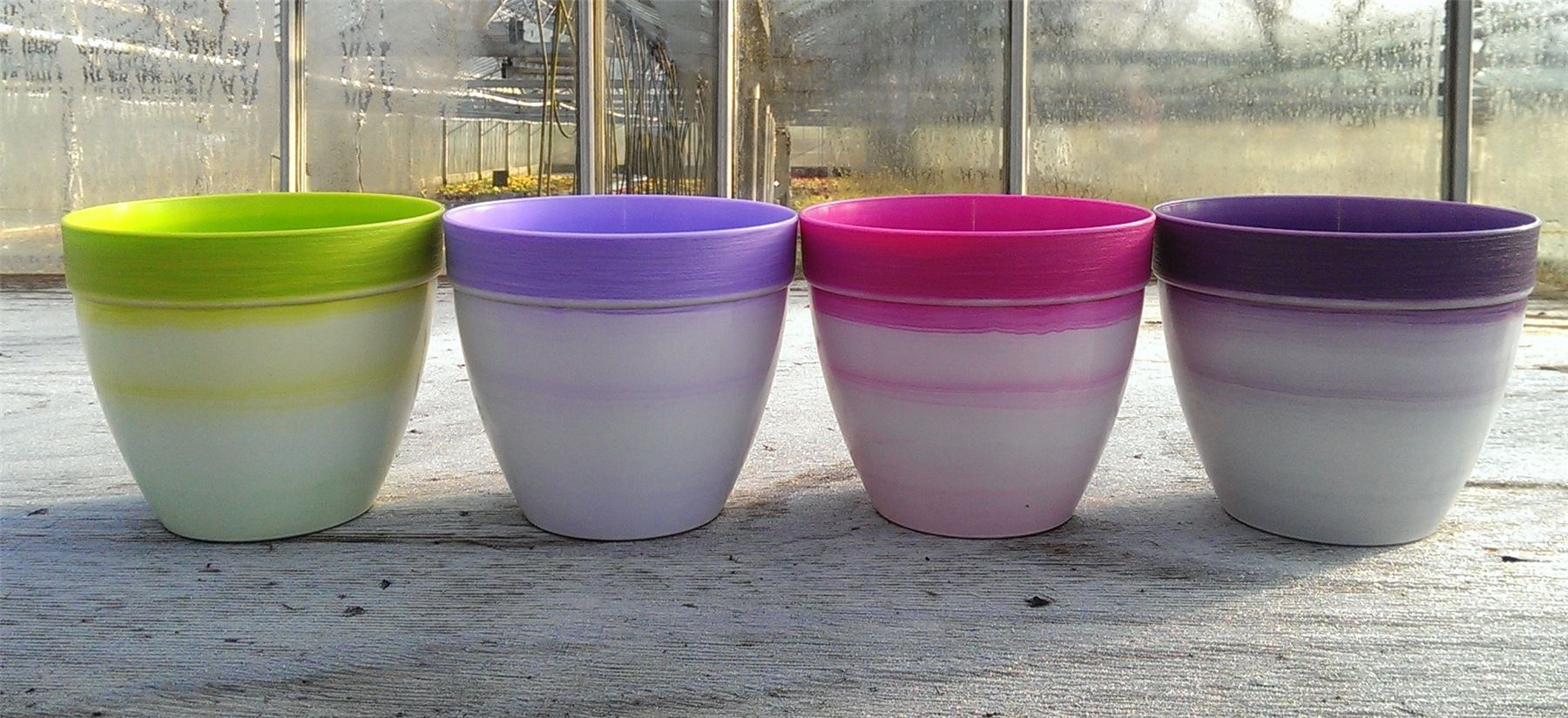 Contemporary Plant Pot Cover in 4 Distinctive Colours.  n.