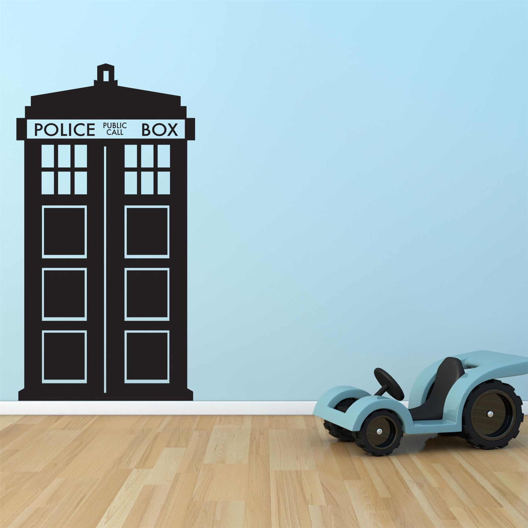 supertogether dr who tardis childrens bedroom vinyl wall sticker decal ebay. Black Bedroom Furniture Sets. Home Design Ideas
