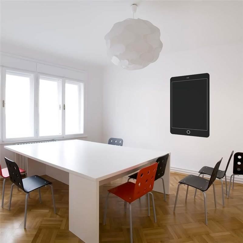 Vinilo-de-pared-pizarra-iPad-para-sala-de-reuniones-se-puede-cambiar-de-sitio