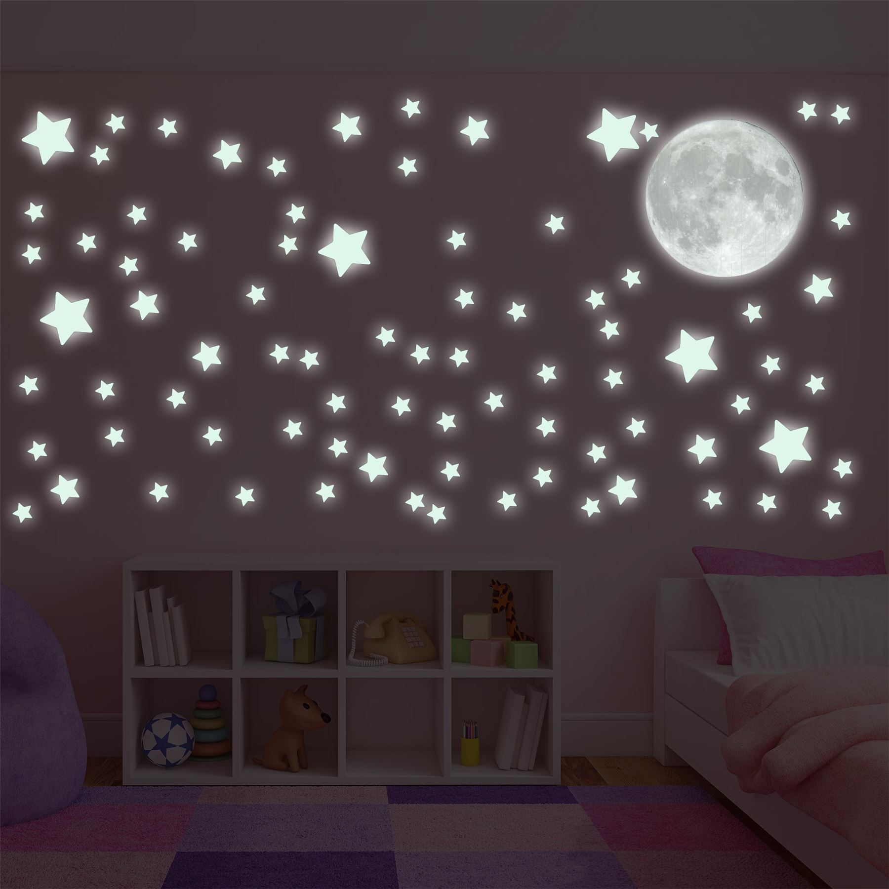 28 moon and stars wall stickers moon and stars wall decal moon and stars wall stickers glow in the dark moon and stars wall sticker decal ebay