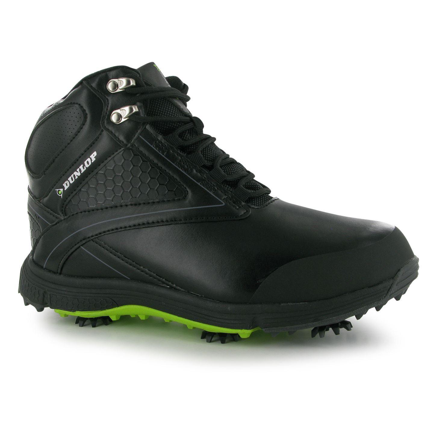 Dunlop Waterproof Leather Biomimetic  Mens Golf Shoes
