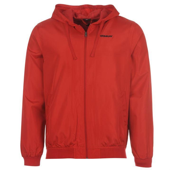 Donnay Mens Lightweight Rain Jacket Lined Hood Ribbed Hems Mesh ...
