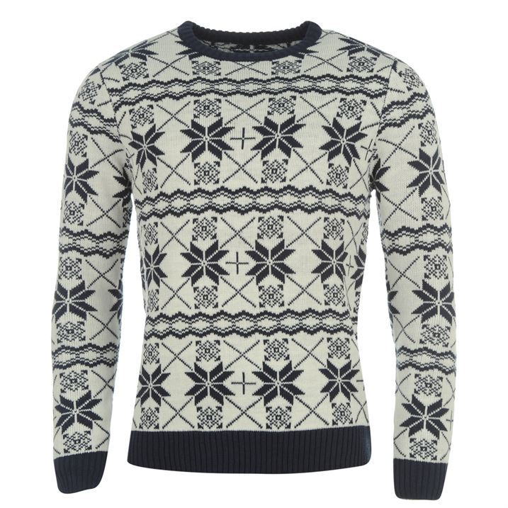 Star Mens Christmas Fair Isle Knit Jumper All Over Print Long ...