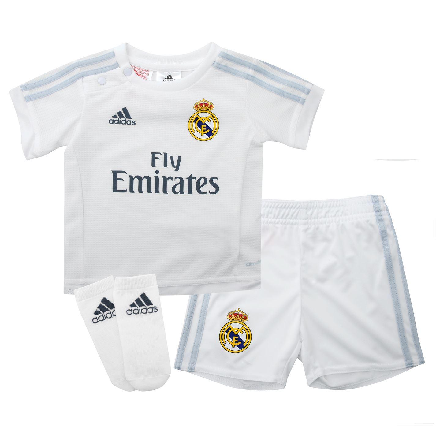 Adidas Kids Real Madrid Home Kit Baby Shirt