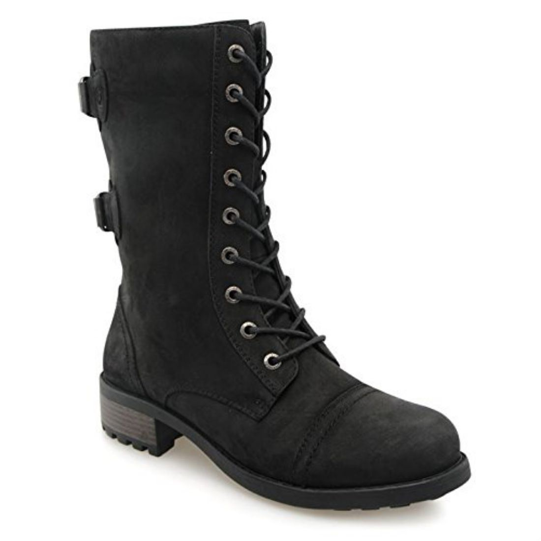 firetrap womens boots lace up side zip moulded