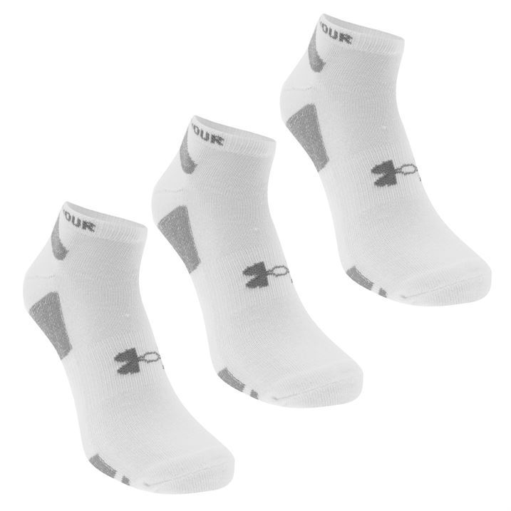 3x Under Armour Mens HG NoShow Sox Socks Ankle Pairs Trainer Sports Accessories