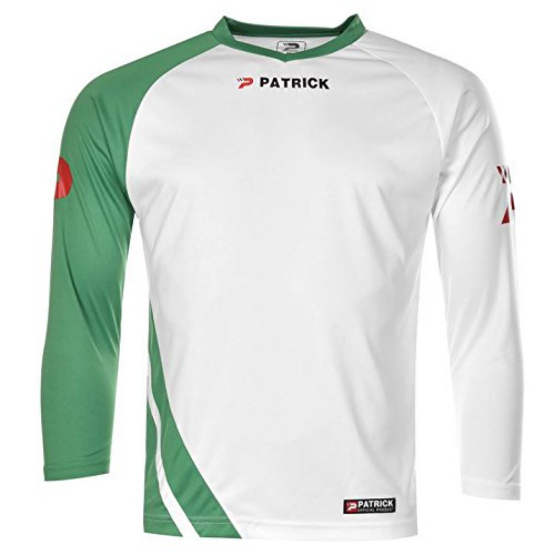Patrick mens football long sleeve training top lightweight for Lightweight breathable long sleeve shirts