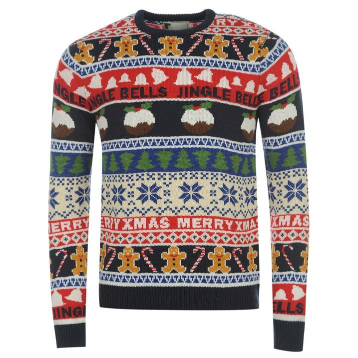 Star Mens Christmas Fair Isle Knit Jumper All Over Print Long ...