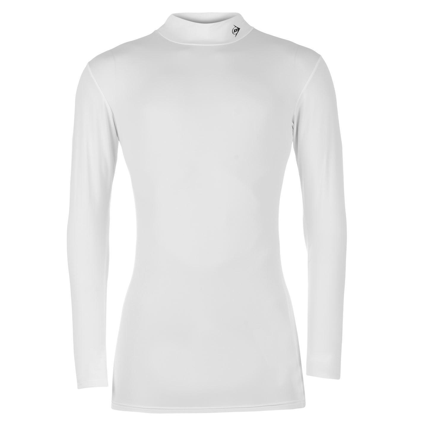 Dunlop mens pro mock shirt golf baselayer tops long sleeve for Mock long sleeve t shirts