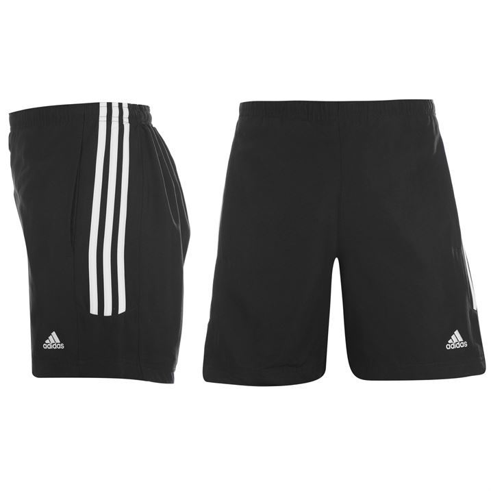 adidas Womens 3 Stripe Salma Shorts Ladies Pants Elasticated Waist ...