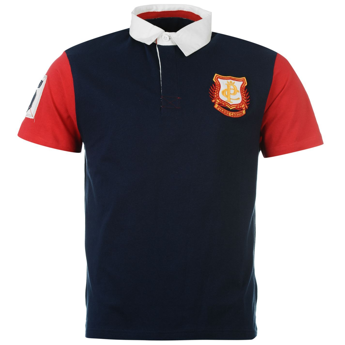 Pierre Cardin Mens Rugby Polo T Shirt Jersey Top Casual