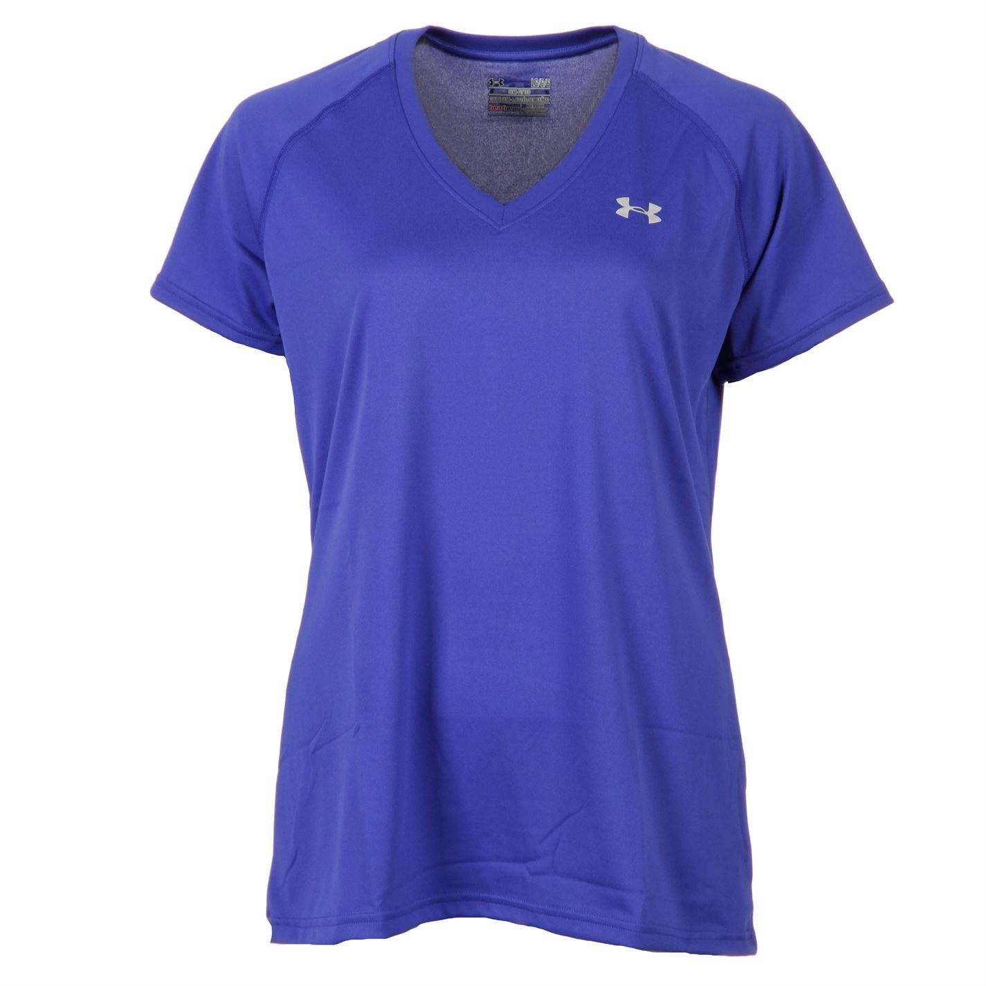 Under armour womens ladies tech ss short sleeves v neck t for Under armour women s twisted tech t shirt