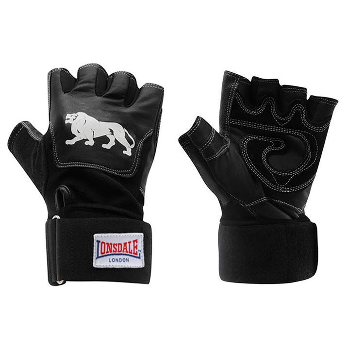Weight Lifting Gloves Leather Fitness Gym Training Workout: Lonsdale Unisex Leather Weight Lifting Gloves Mitts