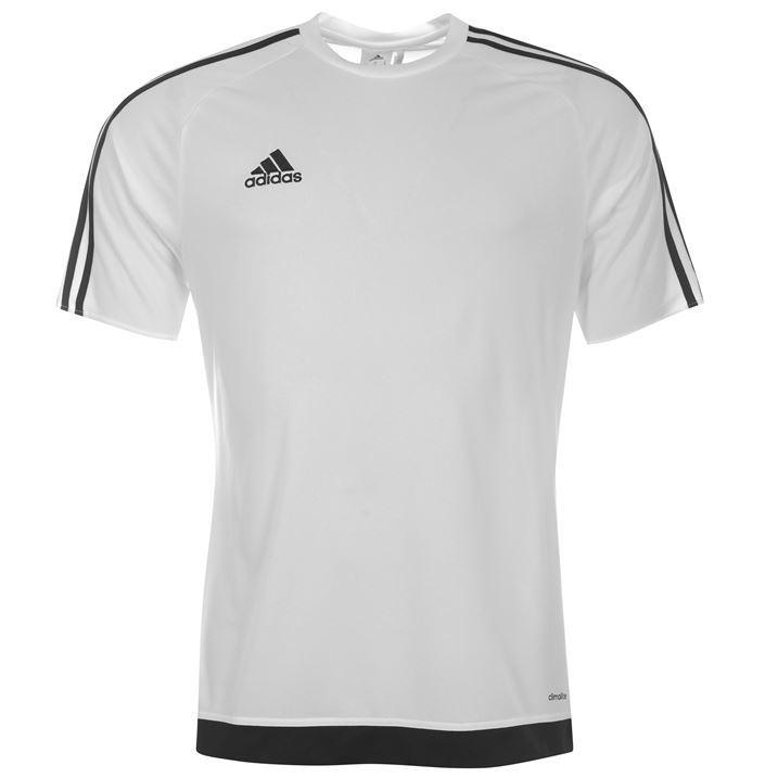 adidas Kids 3 Stripe Estro T Shirt Junior Boys Short ...