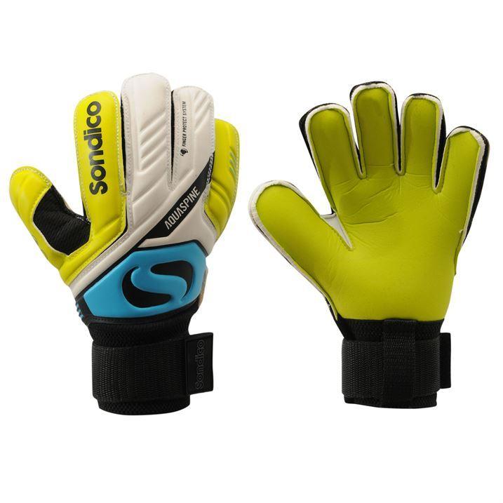 Sondico Kids Boys Aquaspine Goalkeeper Gloves Sport ...