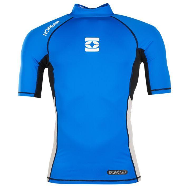 No fear mens rash vest 50 uv protection swimming short for Men s uv swim shirt short sleeve