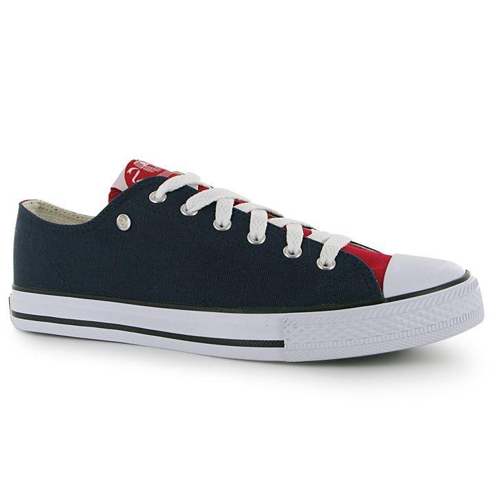 mens dunlop mens canvas low top trainers sport shoes new