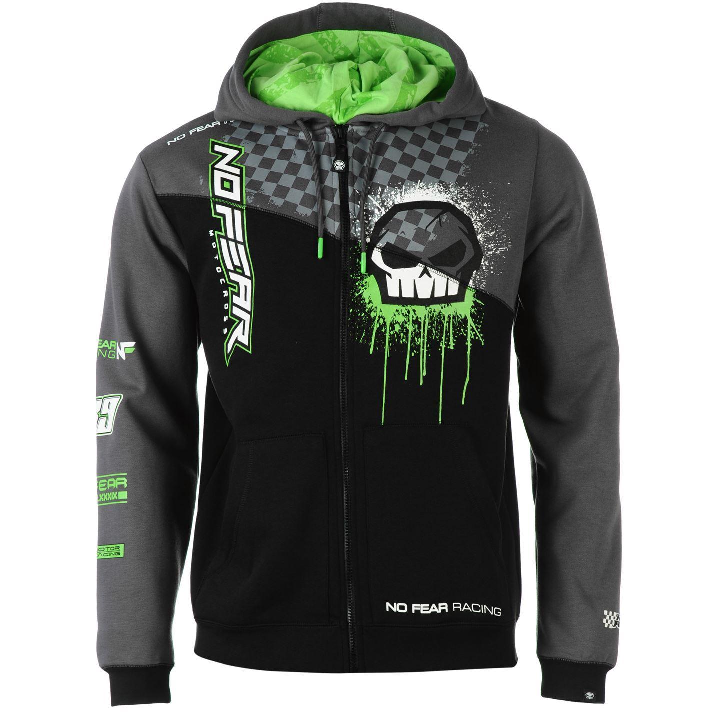 No Fear Hoody Hoodie Sweatshirt Top Mens Gents | eBay
