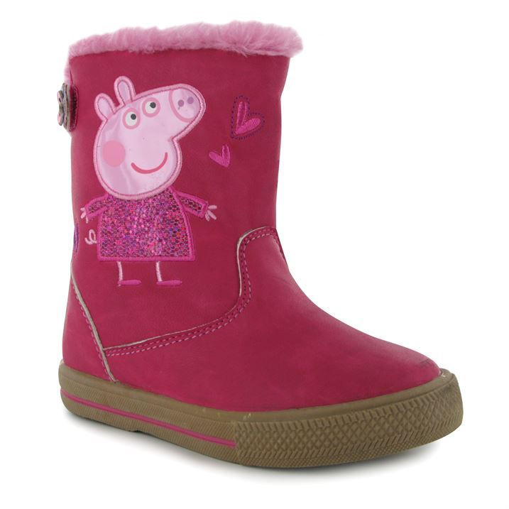 Character Kids Peppa Pig Ankle Infants Boots Girls Tall Construction Zip Shoes