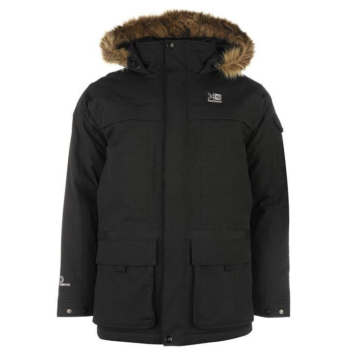 Karrimor Mens Parka Jacket Padded Full Zip Top Faux Fur