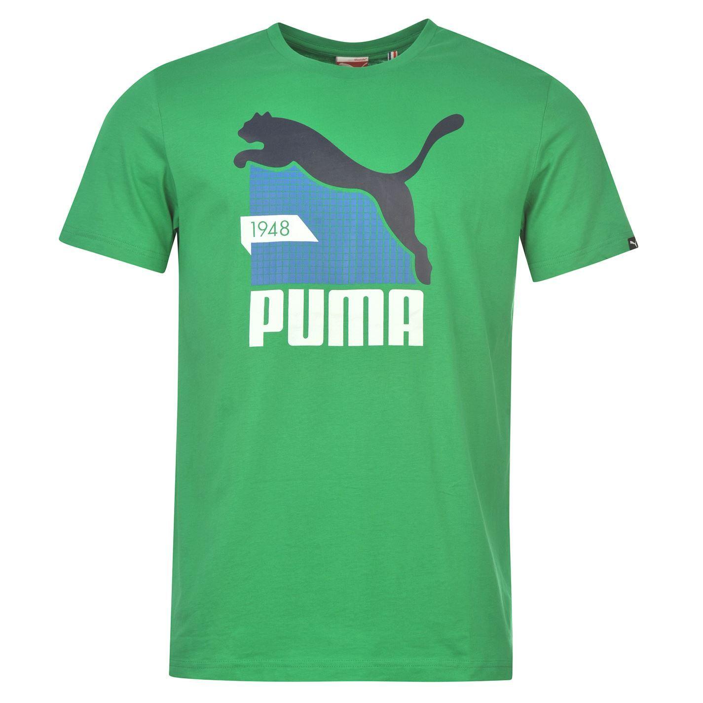 Puma Mens Qtt Cat Graph T Shirt Cotton Print Casual Short