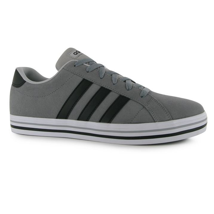 Adidas Mens Weekly Suede Trainers Flat Sole Lace Up Ortholite Textile Shoes | EBay