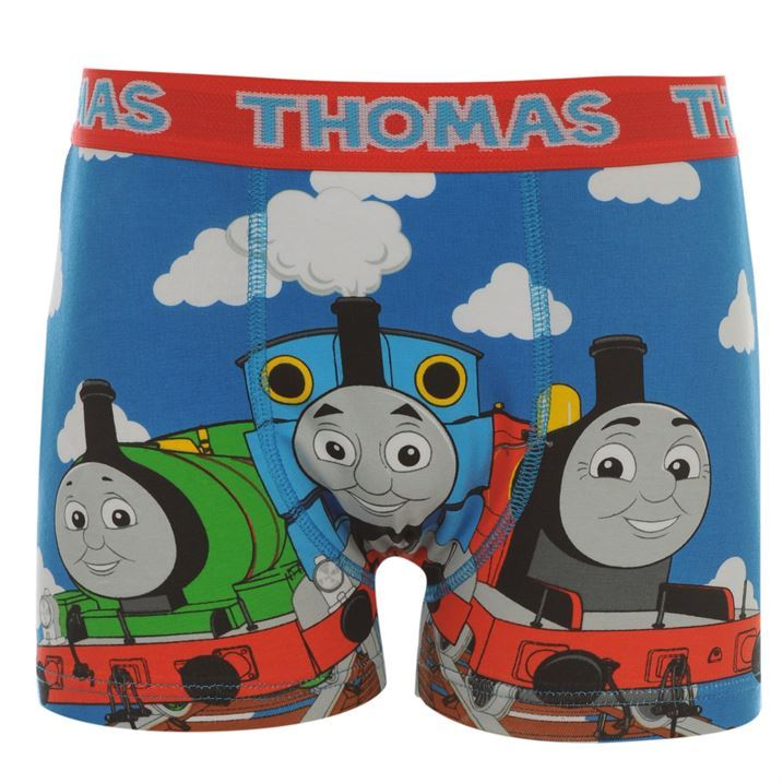 Character-Kids-Boys-Thomas-Single-Boxer-Shorts-Casual-Printed-Underwear-Infants