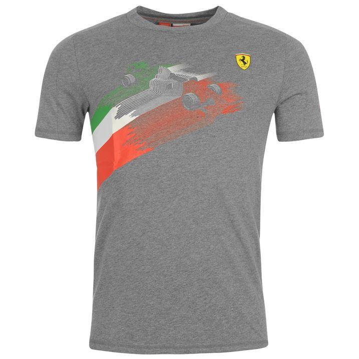 Puma Mens Gents Ferrari Graphic T Shirt Tee Top Blouse Short Sleeve Printed