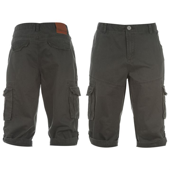 Firetrap Mens Clothing Three Quarter Combat Pants Trousers Shorts ...