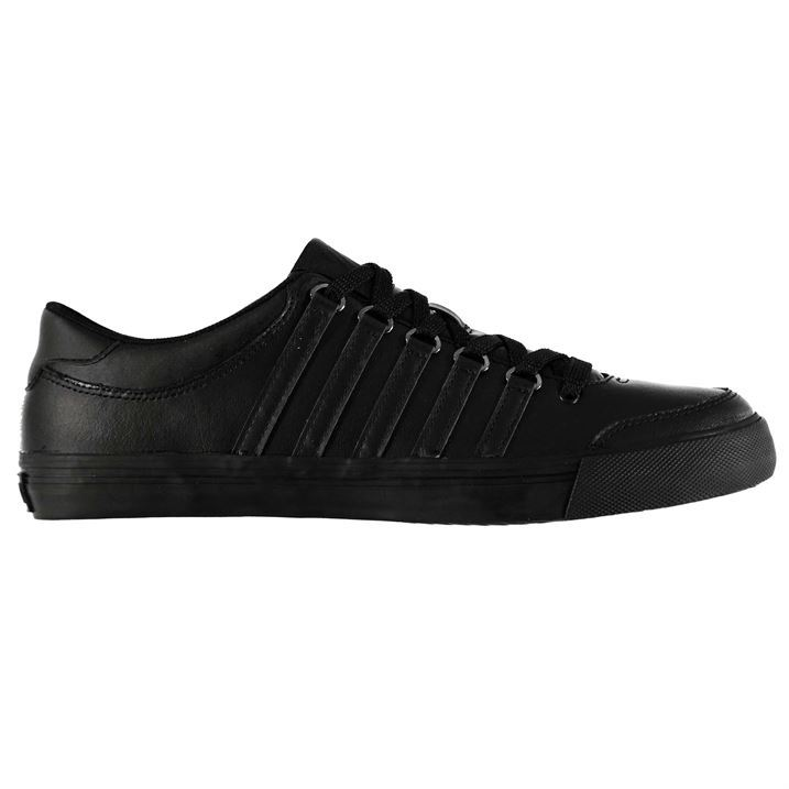K-Swiss-Mens-Chilton-Low-Trainers-Padded-Lace-Up-Casual-Shoes-Leather-Sneakers