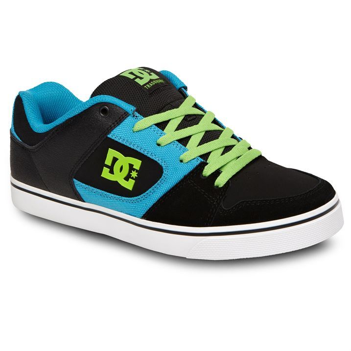DC Mens Blitz Lace Up Padded Tongue Casual Trainers Skate ...