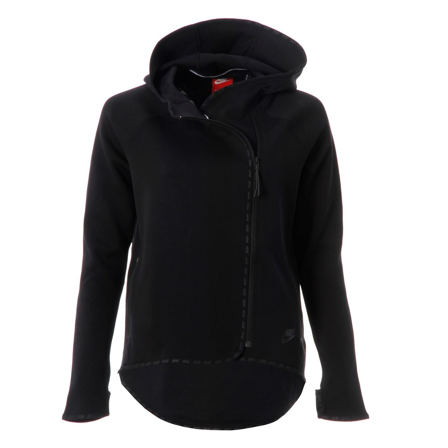 nike womens ladies tec fleece cape side zipper long sleeve. Black Bedroom Furniture Sets. Home Design Ideas