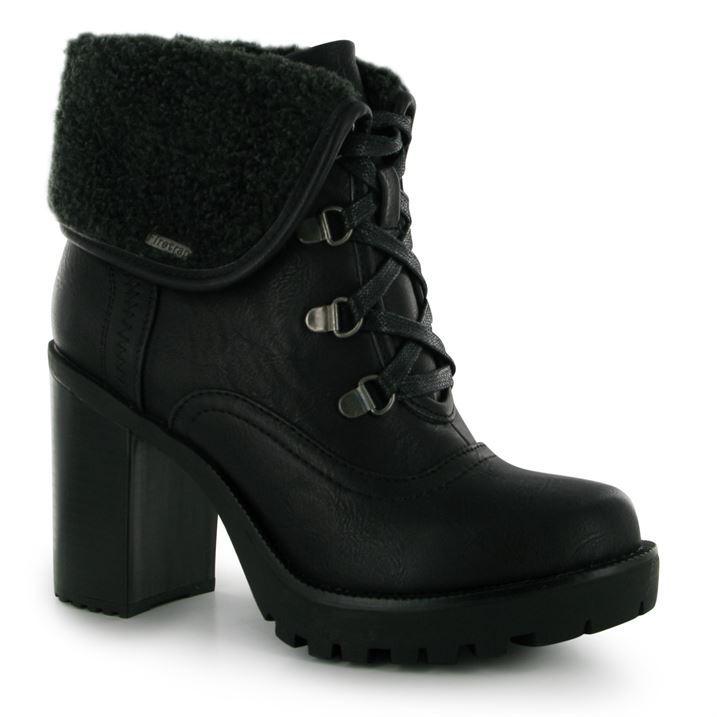 firetrap womens quentin boots lace up high heel